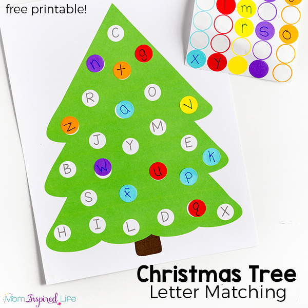 photograph regarding Printable Christmas Letters named Xmas Tree Letter Matching Game with Cost-free Printable