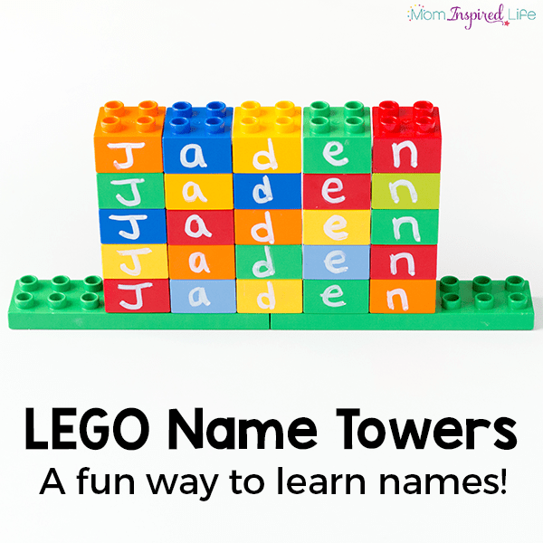 A fun LEGO name activity for preschoolers!