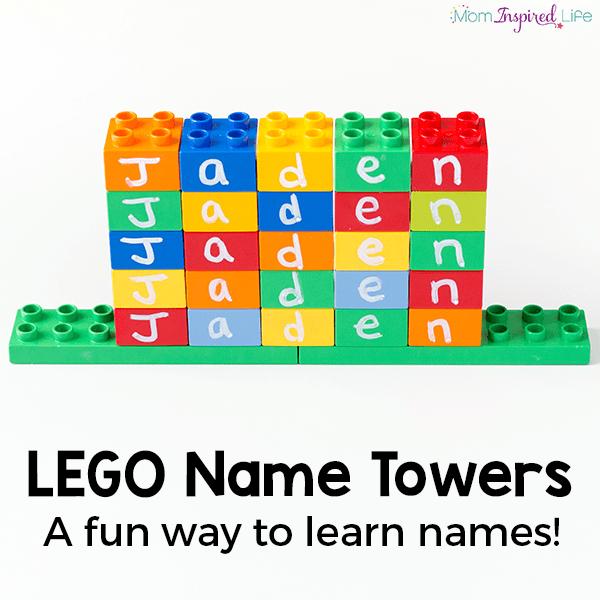 A fun LEGO name activity for preschoolers!