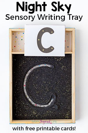 Night Sky Writing Tray that Your Kids will Love!