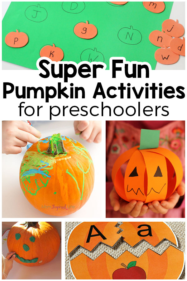 Pumpkin activities for preschoolers. Learn with pumpkins this fall!