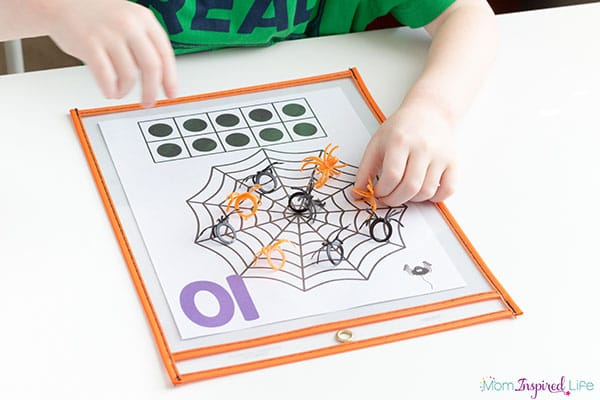 Teach your kids to count with this hands-on spider math activity.
