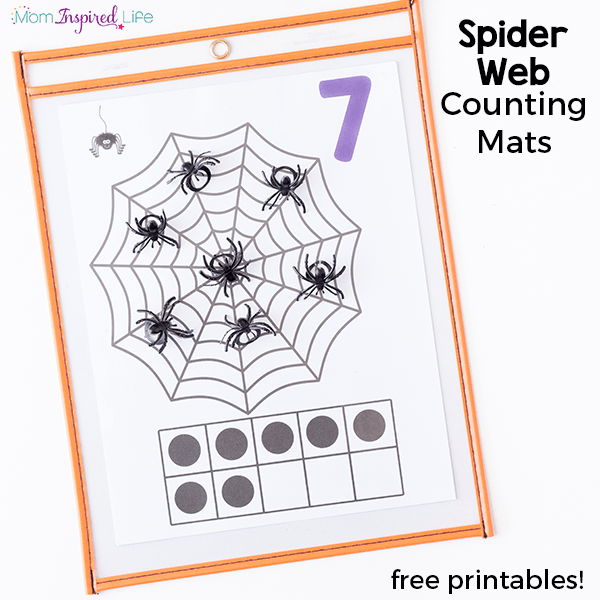 These spider web counting mats are so much fun and a great way to work on counting skills this fall!