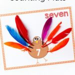Turkey Counting Mats with Free Printables