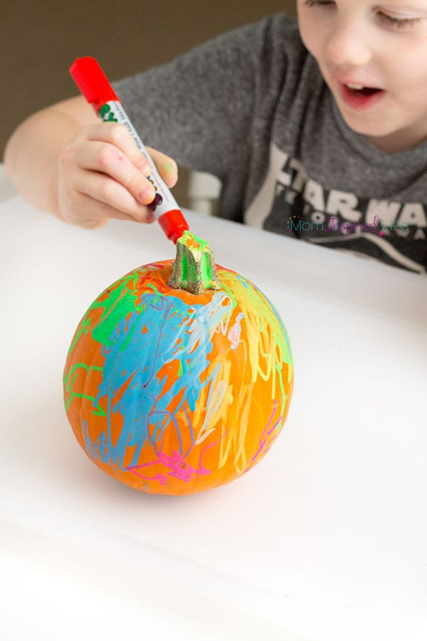 Pumpkin art that you can erase and do over and over again.