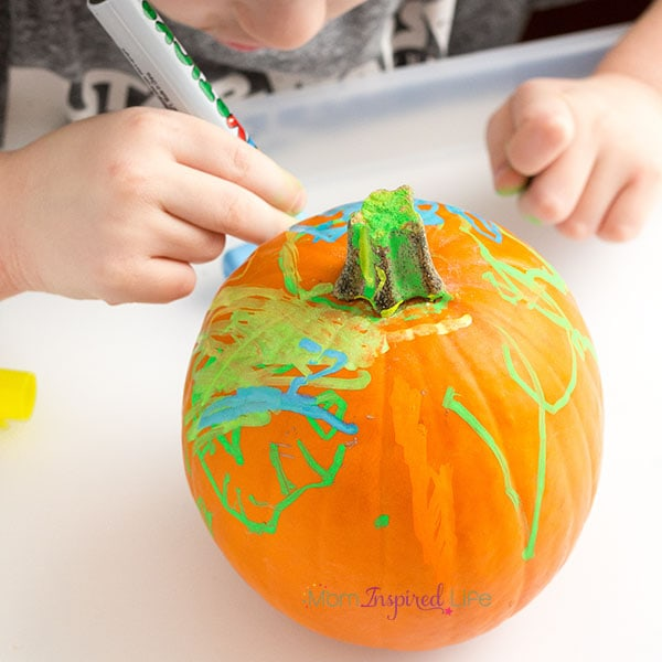 Pumpkin art activity for kids.