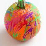 Write and Wipe Pumpkin Process Art Activity