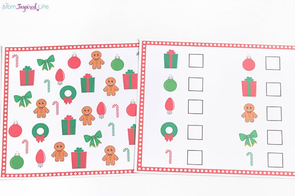 Printable Christmas I Spy for Kids