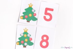 Christmas number cards for memory games and more!