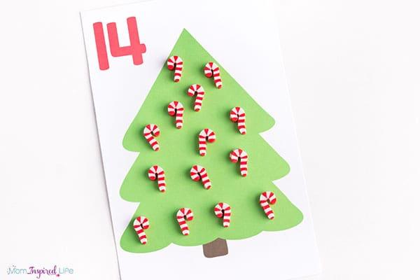 Christmas counting mats 11-20
