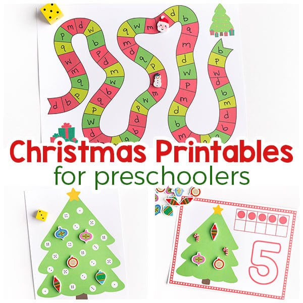 Christmas printables for preschoolers.