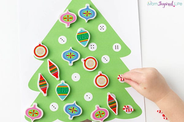 Christmas numbers activity for preschool and kindergarten.