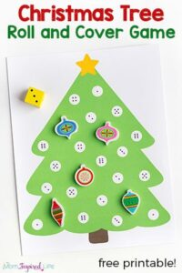 Christmas Tree Math Activity – A Roll and Cover Game