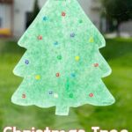 Christmas Tree Suncatcher Art Activity for Preschoolers