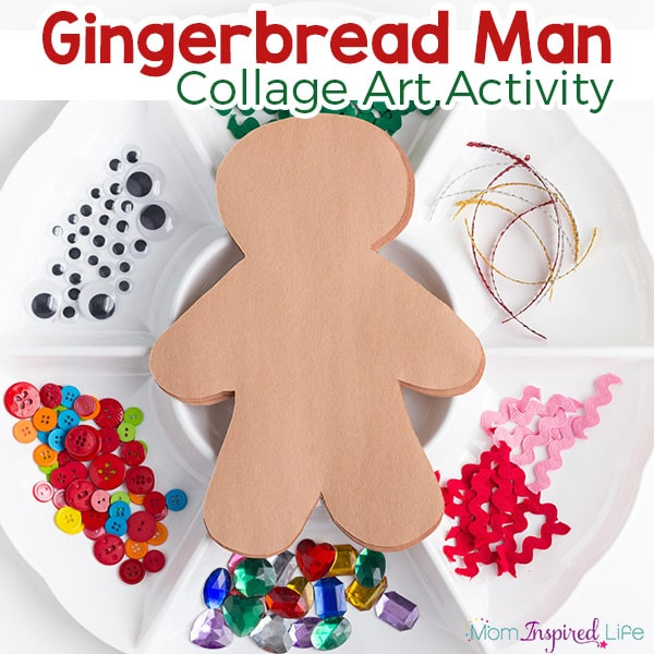 An invitation to create a gingerbread man. An engaging Christmas process art activity for preschoolers.