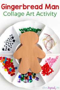 Decorate a Gingerbread Man Art Activity for Kids