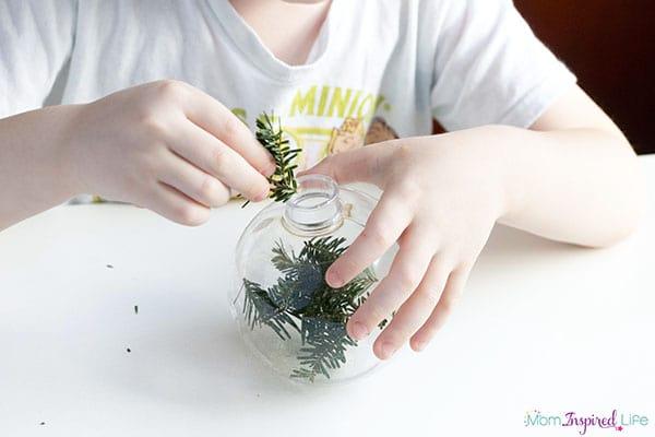 Kid-made Christmas ornaments.