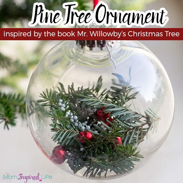 Evergreen tree Christmas ornament that kids can make.