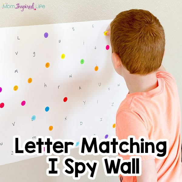 My kids LOVED this letter matching alphabet activity!