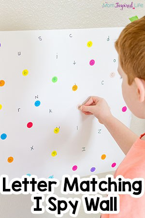 Alphabet Letter Matching I Spy Wall