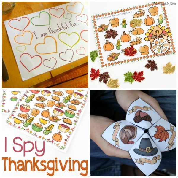 Activities and games for Thanksgiving day! Fun Thanksgiving games!