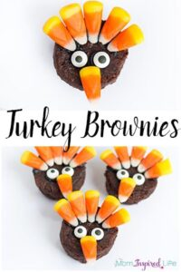 No-Bake Brownie Turkey Treats for Thanksgiving