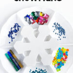 Winter Craft Activity for Kids: Decorate a Snowflake