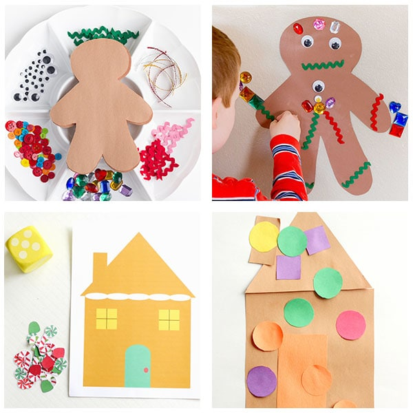 Preschool gingerbread man activities.