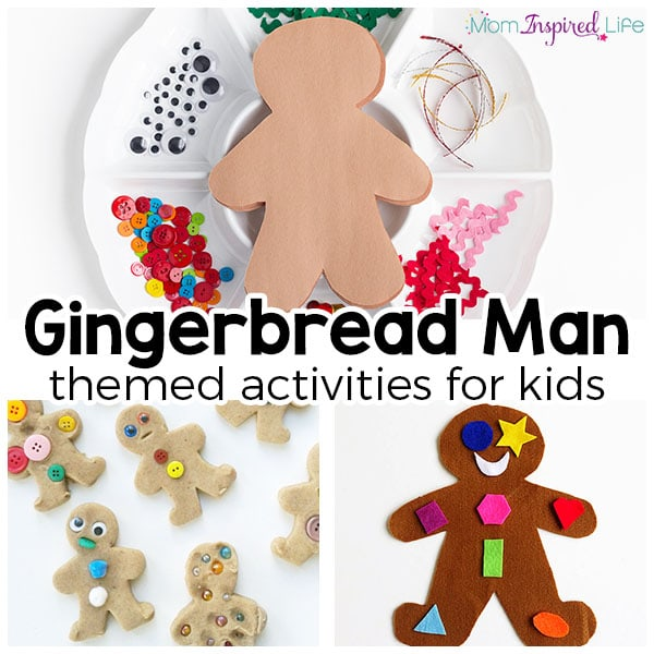 The best gingerbread activities for kids. From literacy to math to fine motor, crafts and more.