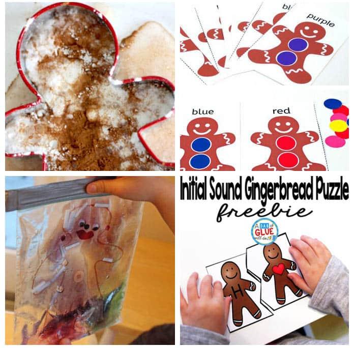 Gingerbread Man theme activities for preschoolers.