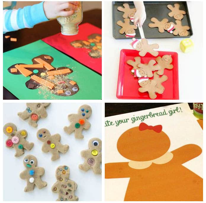 Learning activities for gingerbread man theme.