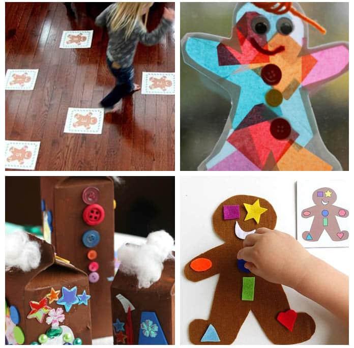 Hands-on gingerbread activities.