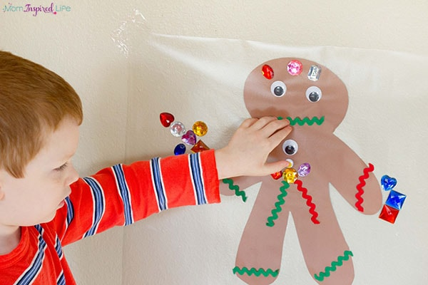 Gingerbread man Christmas party activity for kids.