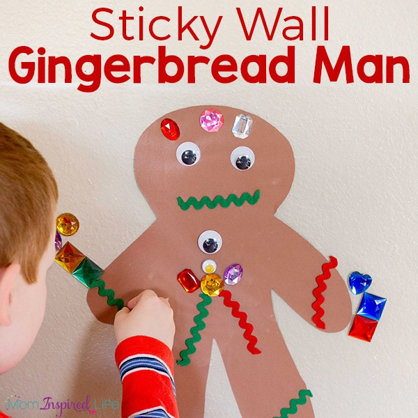 A fun gingerbread man finger gym activity for kids!