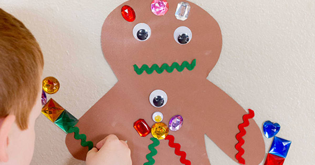 Sticky Wall Gingerbread Man Activity