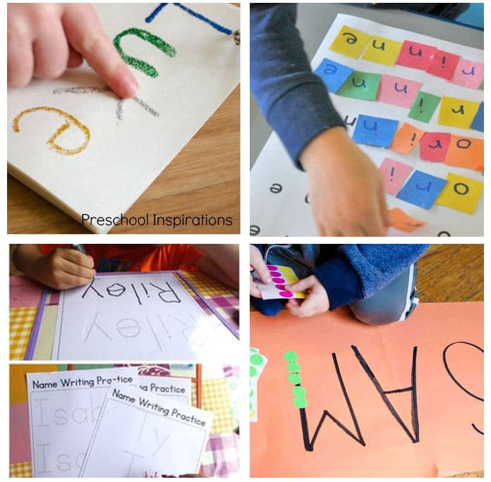 Teaching kids their name with fun activities.