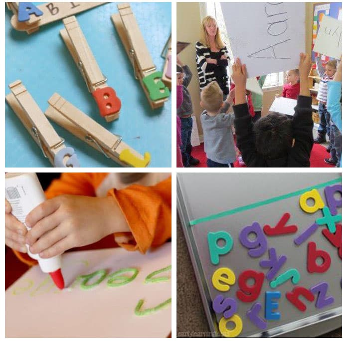 Name recognition activities in preschool.