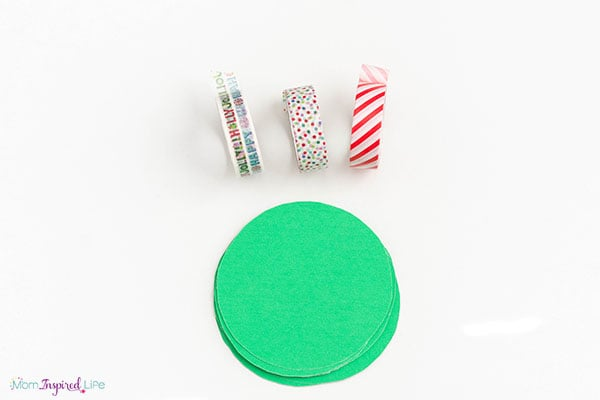 Making ornaments with washi tape.