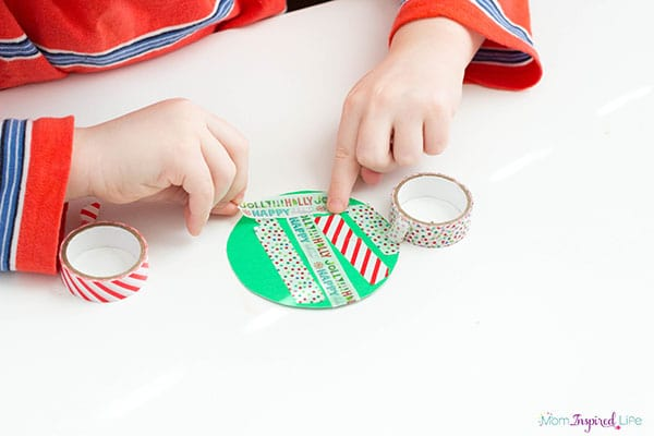 Christmas ornament fine motor activity.