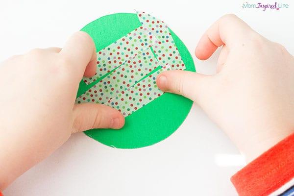 Washi tape Christmas craft.