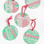 Washi Tape Christmas Ornaments that Young Kids Can Make