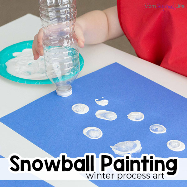 Winter art projects for toddlers and preschoolers. A fun winter painting activity.