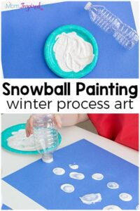 Winter Art Project for Kids: Snowball Painting