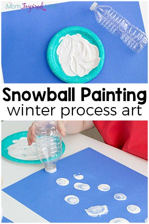 winter craft ideas for preschoolers winter project for snowball painting 7333
