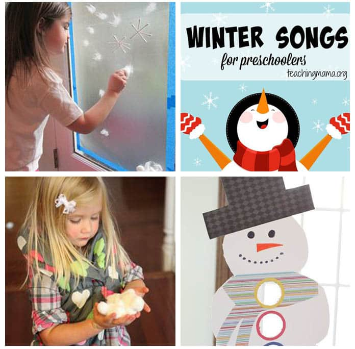 Snowman and snow themed activities for kids.