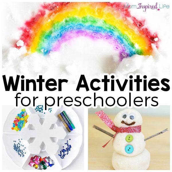 Winter theme activities for preschool. A list of the best winter activities for young kids!