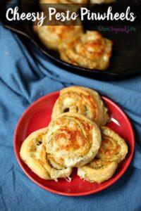 Cheesy Pesto Pinwheels