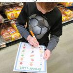 Grocery List Scavenger Hunt for Kids