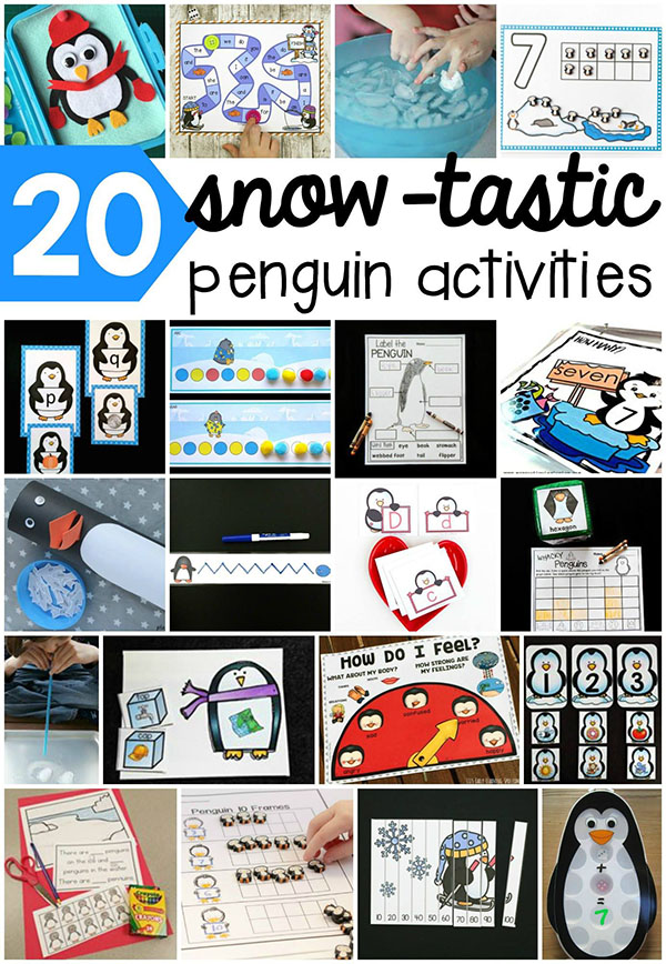 Hands-on penguin activities for kids! Math, literacy, science and more for a penguin theme.