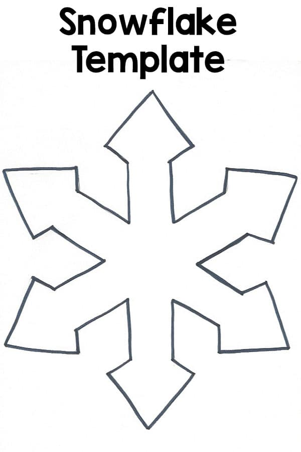 Winter snowflake template